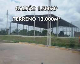 Aluguel Terreno com 13.000m² + de Galpão 1.200m² no Cacau Pierera, Rodovia AM 070, Km 2