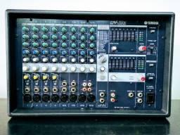 Mesa de som amplificada + efeitos + equalizador e copressor
