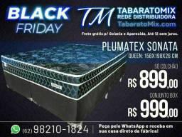 PRORROGAÇÃO BLACK FRIDEY!<br> Conj.  Casal   Sonata Black   Queen Size Plumatex .<br>
