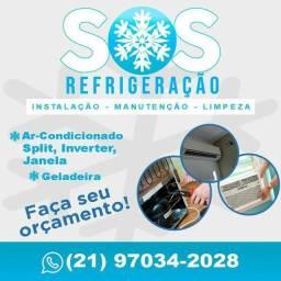 Conserto de Ar condicionado, Geladeira e Instalação ar condicionado Split,