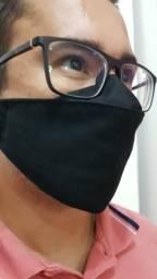 Máscara 3D Preta fino acabamento com corte a laser