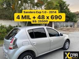 Sandero 1.0 - 2014 _ 2 Dono_ Completo