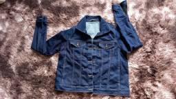 jaqueta jeans com strech no tamanho g