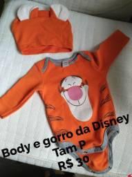 Roupão de banho, body e gorro da Disney