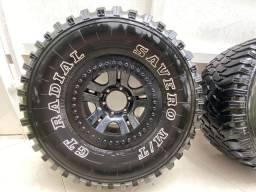 Jogo de rodas Troller com pneus MUD R15