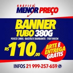 Banner Lona 1,00 x 0,70 + Arte e Entrega Grátis
