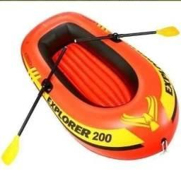 Bote Inflável 200 Intex 2 Pessoas Até 95kg Remos Barco Bomba