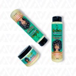 Kit Shampoo + Condicionador + Máscara My Cachos Hábito Cosméticos