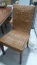 4 Cadeiras de Palha Nova R$300