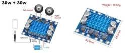 Mini Amplificador Tpa3110 XH-A232 30w + 30w 2.0 canais de áudio estéreo. ( Novo )