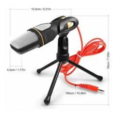 Microfone Condensador Premium Andowl QY-K222 c/ Tripe. Ideal Live Reunião Note Estúdio etc