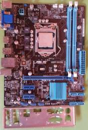 Placa mãe asus h61m+ processador i5 3570 lga1155