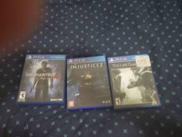 Vendo The Last Guardian, Injustice 2 e Uncharted 4. 40 cada ou 100 tudo.
