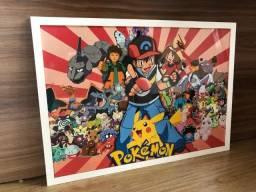 Quadro do Pokémon. 95 x 70 cm
