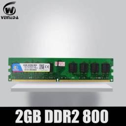 Pentes de Memória DDR2 2GB 800mhz Funcionando perfeitamente