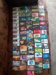 Título do anúncio: Cartões telefônicos usados uma coleção de 74 cartões