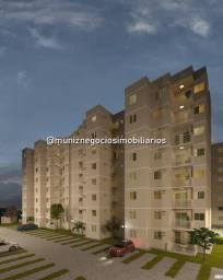 1K Residencial Aurora dos Montes, 2 Quartos com Suíte, Varanda, Piscina!