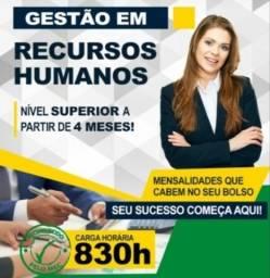 Título do anúncio: Curso Superior em Gestão de Recursos Humanos - EAD, Promoção