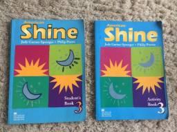 Conjunto 2x Livros Inglês American Shine 3 Workbook + Student Book Zerados Ótimo Estado!