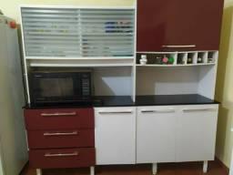 Título do anúncio: Armário de cozinha vermelho e branco