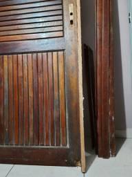 Porta Almofadada 80 cm com caixilho e vistas