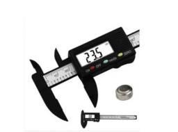Título do anúncio: Paquímetro Digital Eletrônico 150mm Fibra Carbono + Bateria_ T38