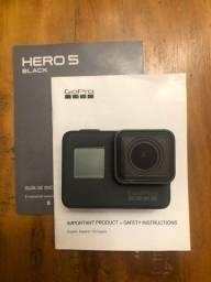 Título do anúncio: Go Pro Hero Black 5 + Kit Acessórios + 2 baterias + maleta