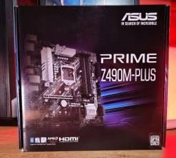 Placa-Mãe Asus Prime Z490M-Plus, Intel LGA 120 / Nova Lacrada / Nota fiscal e Garantia