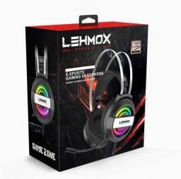 Fone De Ouvido Headphone Gamer Lehmox Usb+3.5mm Led Gt-f5