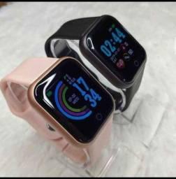Relógio smartwatch D20 Y68 cor rose