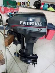 Motor de popa 15hp evinrude 1995 conservado.