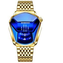 Relógio Luxo Diamante Binbond Jiche01 Locomotiva