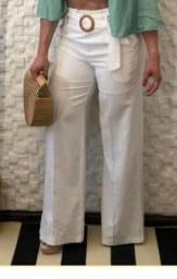 Calça pantalona linho branca