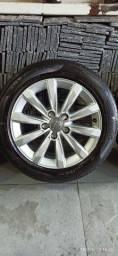 Rodas originais Audi A3 com pneus seminovos 16