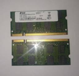 Memória RAM 2GB DDR2 Para notebook