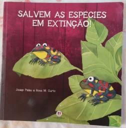 Livro infantil Salvem as espécies em extinção