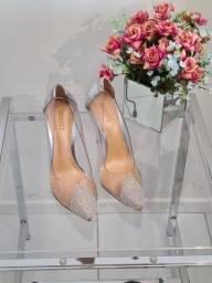Schutz sapato alto com pedrarias