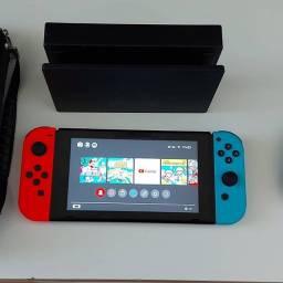 Nintendo Switch 32g Desbloqueável+cart.128g+11 Jogos Orig!