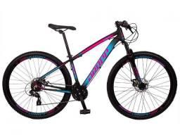 Bicicleta Aro 29 24v Freio a Disco Suspensao 80m