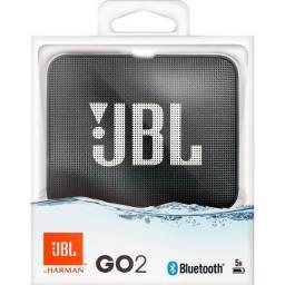 Caixa de Som JBL Go 2 / Bluetooth / À Prova D'Água / 3W / Preta / JblGO2BLK - Novo