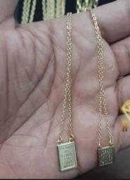 Escapulário moeda antiga idêntico ao ouro