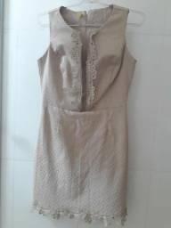Vestido curto bege, M