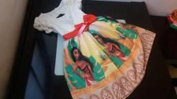 Vestido Luxo Sublimado Moana - Veste 5/7 anos Watshap (31)99620-3005