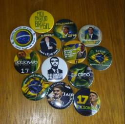 Kit com 20 Bottons Bolsonaro à sua escolha