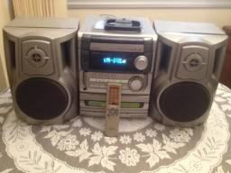 Micro system aiwa nsx-s229, 60 watts rms, 3 cds, radio am/fm