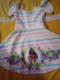 Vestido para criança da Moana