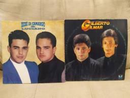 LPs Vinil sertanejos: Zezé Di Camargo e Luciano + Gilberto e Gilma