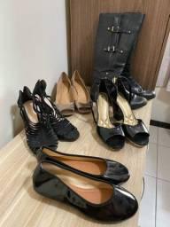 4 pares de sapatos femininos + 1 bota