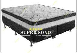 Conj Box Ortobom Physical Superpocket Queen Size 158x198 Mola Ensacada