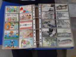 Coleção de cartões telefônicos com 1.240 unidades, de vários estados e concessionárias